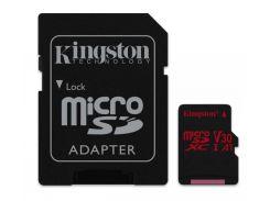 Карта памяти MicroSD 64Gb Kingston React (Black) SDCR/64GB
