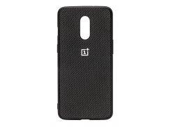 TPU Чехол Hard Label Case Сarbon для OnePlus 7