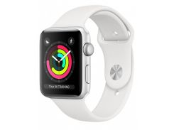 Apple Watch Series 3 42mm Silver Aluminum Case with White Sport Band (MTF22FS/A)