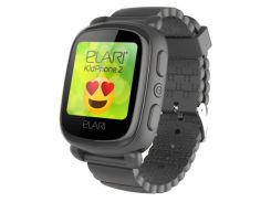 Детский телефон-часы с GPS трекером Elari KidPhone 2 (Black) KP-2B