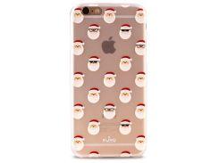 Чехол-накладка Puro для iPhone 6/6S Сhristmas Santa Claus (прозрачный) IPC647XMASSANTA