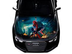 3д наклейка на капот Spider man (1300 × 1500 × 0.15 мм), Grandmaster3d