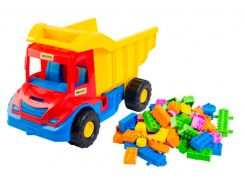 Multi truck грузовик с конструктором (красно-синяя кабина), 38 см, Wader