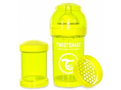 Антиколиковая бутылочка 180 мл, желтая, Twistshake