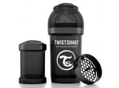 Антиколиковая бутылочка 180 мл, черная, Twistshake