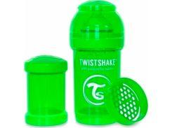 Антиколиковая бутылочка 180мл, зеленая, Twistshake