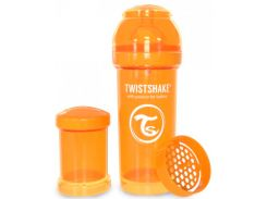 Антиколиковая бутылочка 260 мл, оранжевая, Twistshake