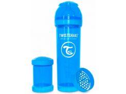 Антиколиковая бутылочка 330 мл, голубая, Twistshake