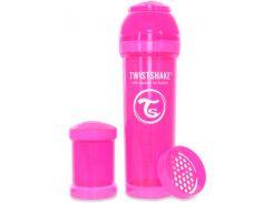 Антиколиковая бутылочка 330 мл, розовая, Twistshake