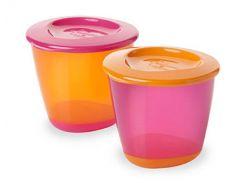 Баночка с крышкой для еды, фиолетово-оранжевая (2 шт), Tommee Tippee