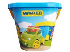 Ведро квадратное для песка (синее), Wader
