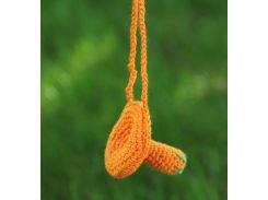 Вязаная игрушка Гриб рыжик, EcoWalnut