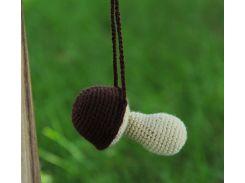 Вязаная игрушка Гриб, EcoWalnut
