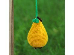 Вязаная игрушка Груша, EcoWalnut