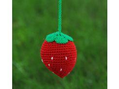 Вязаная игрушка Клубника, EcoWalnut