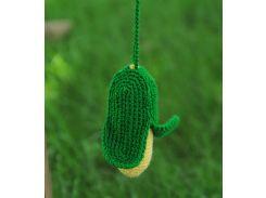 Вязаная игрушка Кукуруза, EcoWalnut