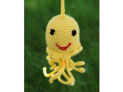 Вязаная игрушка Медуза желтая, EcoWalnut