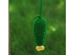 Вязаная игрушка Огурец, EcoWalnut