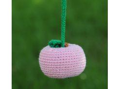 Вязаная игрушка Розовое яблоко, EcoWalnut