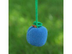 Вязаная игрушка Слива голубая, EcoWalnut