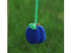 Вязаная игрушка Слива темно-синяя, EcoWalnut