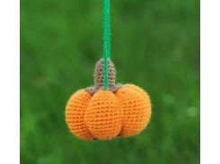 Вязаная игрушка Тыква, EcoWalnut