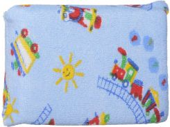 Губка для купания махровая (голубая), Canpol babies