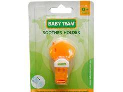Держатель для пустышки (оранжевый цвет), Baby Team
