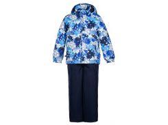 Детский комплект (куртка и полукомбинезон) YOKO, Huppa, темно-синий с принтом-темно-синий (110)