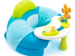 Детское кресло Cotoons с игровой панелью, голубое, Smoby toys