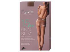 Колготки женские Bikini Slim корректирующие бикини (15 Den), Duna, бежевые (размер 4)