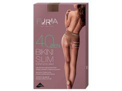 Колготки женские Bikini Slim корректирующие бикини (40 Den), Duna, бежевые (размер 3)