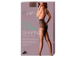 Колготки женские Shaping корректирующие шортики 15 Den, Duna, бежевый (размер 2)