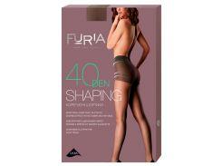 Колготки женские Shaping корректирующие шортики 40 Den, Duna, бронзовый (размер 4)