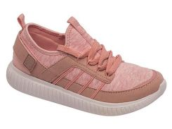 Кроссовки для девочек, розовые (текстиль), Lapsi (33)
