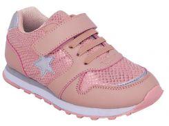 Кроссовки для девочек, розовые, Lapsi (26)