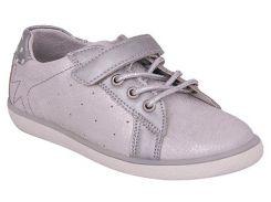 Кроссовки для девочек, серебристые (искуственная кожа), Lapsi (34)