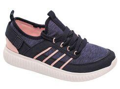 Кроссовки для девочек, синие с розовым, Lapsi (34)