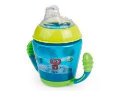 Кружка-непроливайка с мягким силиконовым носиком Toys, 230 мл., бирюзовая, Canpol babies
