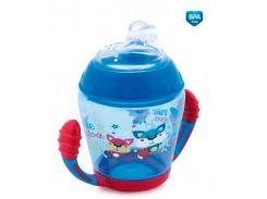 Кружка-непроливайка с мягким силиконовым носиком Toys, 230 мл., синяя, Canpol babies