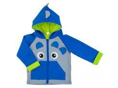 Куртка для мальчика Дракончик, Danaya, серый и синий (86 р.)