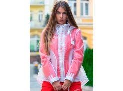 Куртка-дождевик с капюшоном, прозрачная, Ze One, L-XL