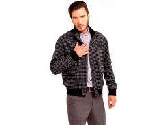 Мужская куртка в клетку, серая, размер L, Dilovyi