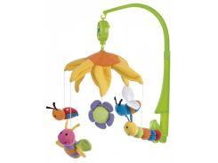 Музыкальный плюшевый мобиль Пчелки под цветком, Canpol babies