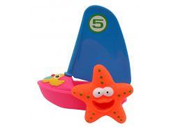 Набор игрушек для ванной Веселый серфер (розовый цвет), Baby team