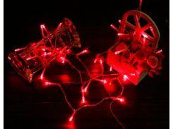 Новогодняя гирлянда для улицы под навесом, 3 метра, на батарейках, красный, IP44, Ecolend