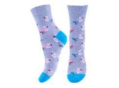 Носки женские, Misyurenko, фламинго голубой с бирюзовым (размер 23)