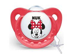 Ортодонтическая пустышка Trendline Disney Mickey, от 6 мес., красная, NUK