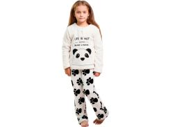 Пижама для девочки, Панда, Danaya, белая (110 р.)