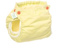 Подгузник трикотажный Active Premium 3-6, со вкладышем Abso Maxi (желтый), Эко Пупс